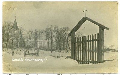 Kursīšu luterāņu baznīca un kapi