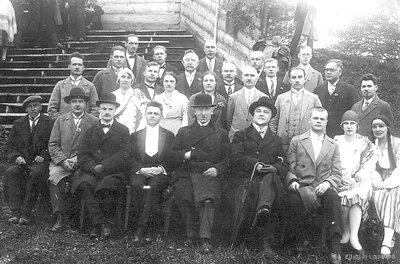 Talsu novada koru diriģenti, svētku viesi un rīcības komiteja