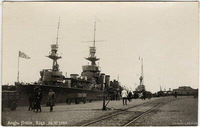 Angļu flotile Rīgā 1923. gadā