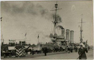 Vācu kara kuģis Rīgas ostā