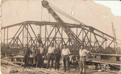 Krustpils - Jēkabpils tilta būve