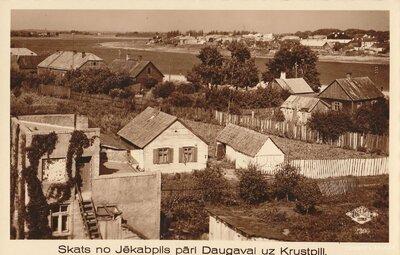 Skats no Jēkabpils pāri Daugavai uz Krustpili