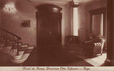 """Rīga. """"Romas"""" viesnīcas restorāns """"Otto Schwarz"""""""