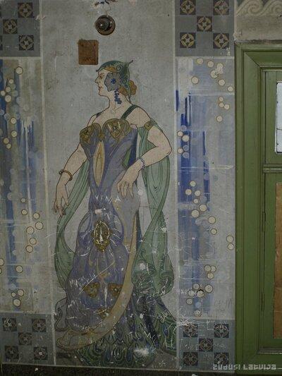 Jūgendstila zīmējumi Liepājā