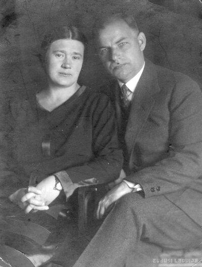 Vietalva. Jānis Kļaviņš ar sievu Zinaīdu