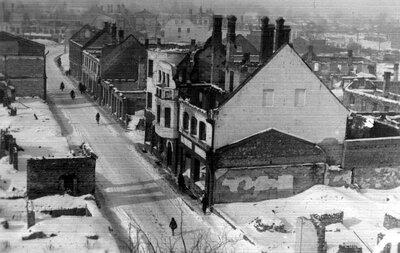 Valmiera. Otrā pasaules kara postījumi Rīgas ielā