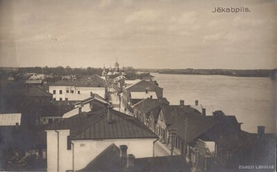 Jēkabpils. Lielā iela un Daugava