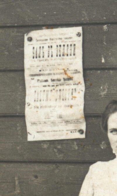 Madliena. Zaļumballes afiša pie Hincenberga alus tirgotavas sienas