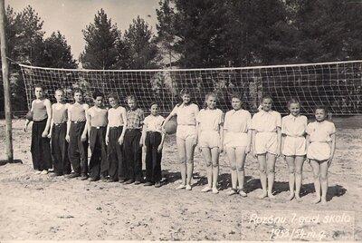 Staiceles pagasts. Rozēnu skolas volejbolistu izlase