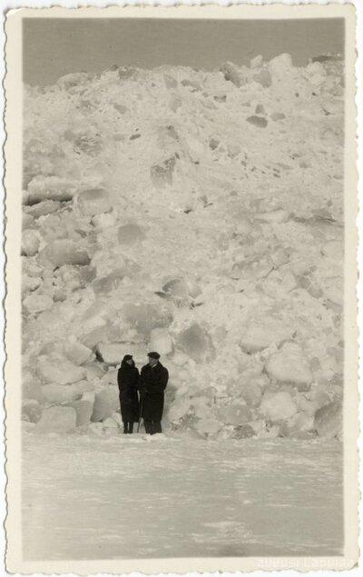 Rojas novads. Ledus kalni jūras krastā