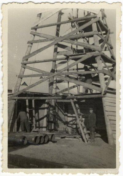 Rojas novads. Torņa celtniecība