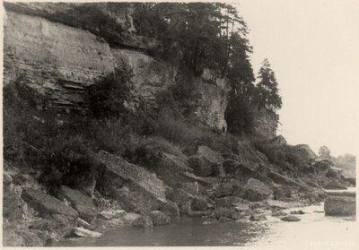Klintaines pagasts. Andreja klints zem Oliņkalna