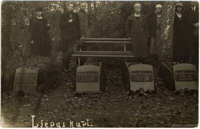 Eduarda Veidenbauma atdusas vieta Liepas kapos