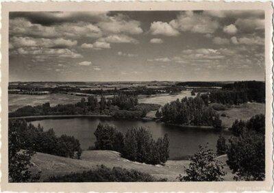 Kombuļu pagasts. Skats no Sauleskalna