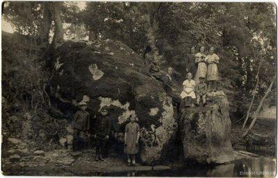 Virešu pagasts. Žākļu dižakmens