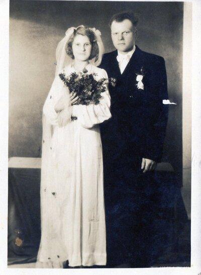 Jaunsvirlaukas pagasts. Ludvigs un Anna Rikmaņi kāzu dienā