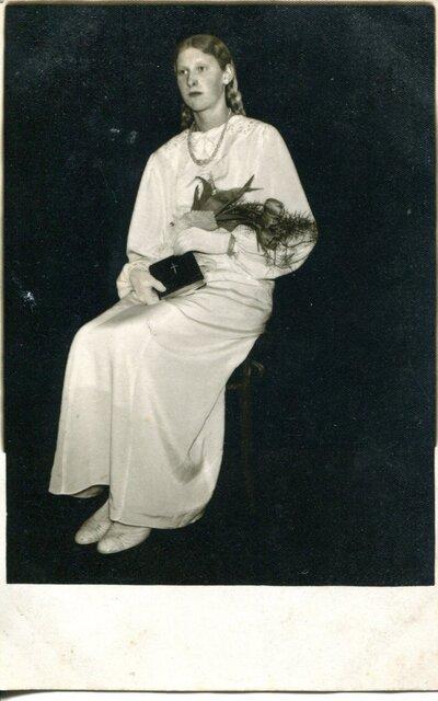 Lilija Pipare iesvētību dienā