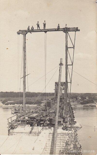 Zeļķu tilta būvniecība
