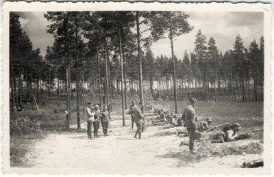 Litene. Militārie manevri vasaras nometnē