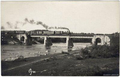 Ogre. Dzelzceļa tilts