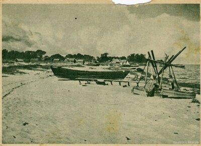 Slokas pagasts. Ragaciema zvejnieku ciems Rīgas jūras līcī
