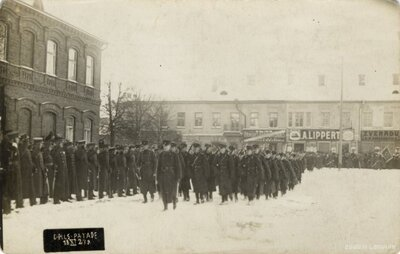 Daugavpils. Latvijas armijas parāde 18.novembī