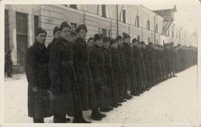 Daugavpils. Latvijas armijas karavīru ierinda