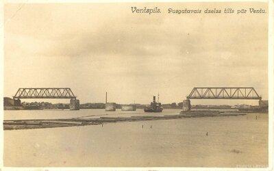 Ventspils. Dzelzceļa dzelzs tilts pār Ventu