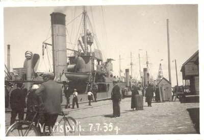 Latvijas kara kuģi Ventspils ostā