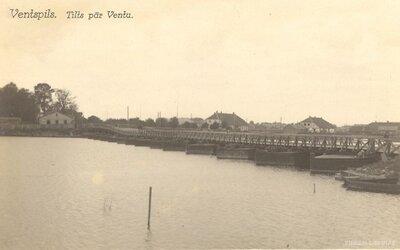 Ventspils. Pontona tilts