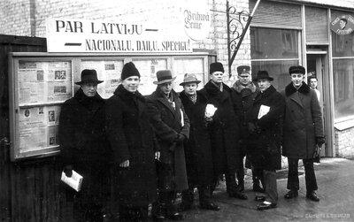 Latvijas zemnieku savienības Talsu nodaļas biedri un pilsētas valdes vīri