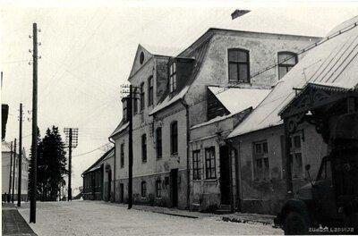 Limbaži. Ēka pilsētas vēsturiskājā centrā