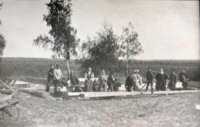 Sēlpils pagasts. Mājas būve Bitānkalnā