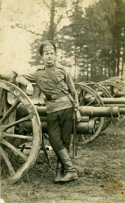 Artilērists Kārlis P. Pirmā pasaules kara laikā