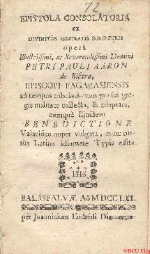 Epistola consolatoria ex divinitus inspriratis scripturis