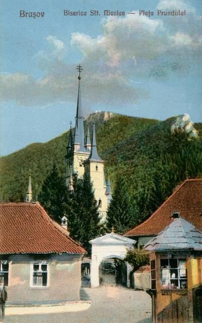 Braşov : Biserica Sft. Nicolae : Piaţa Prundului [material iconografic]