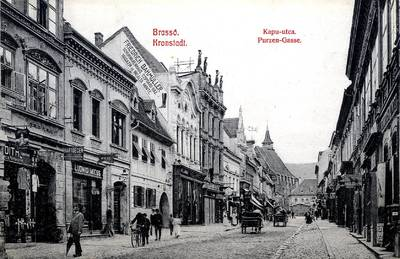 Brassó : Kapu-utca [material iconografic] = Kronstadt : Purzengasse