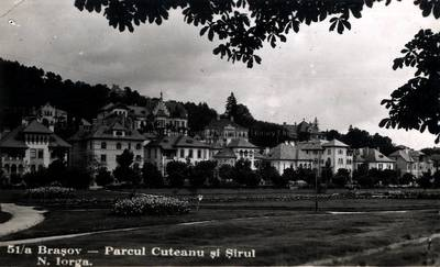 Braşov : parcul Cuteanu şi Şirul N. Iorga [material iconografic]