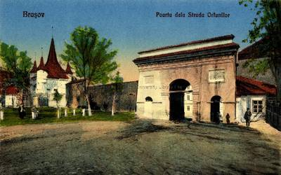 Braşov : poarta dela Strada Orfanilor [material iconografic]