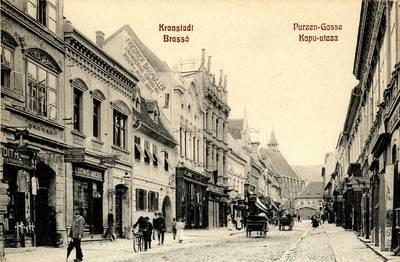 Kronestadt : Purzen-Gasse [material iconografic] = Brasso : Kapu-utcza