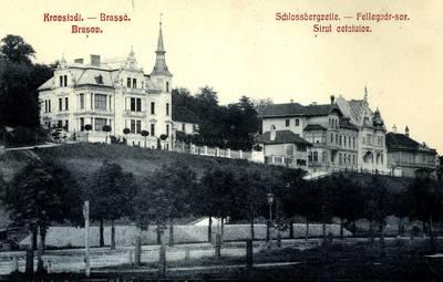 Kronstadt : Schlossbergzeile [material iconografic] = Brassó : Fellegvár-sor = Braşov : Şirul cetatuice