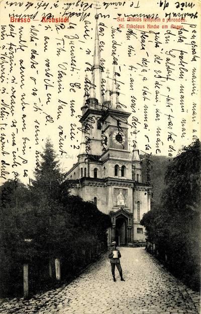 Brassó : Szt. Miklós templom a porondon [material iconografic] = Kronstadt : St. Nikolaus am Anger