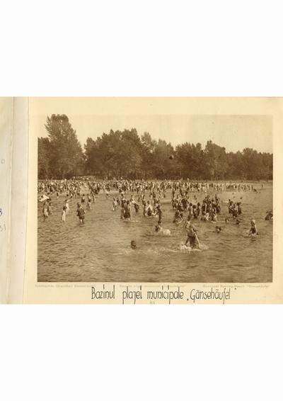 """Reproducere foto, Bazinul plajei municipale """"Gansehaufel"""", Viena; i-a apartinut lui Dumitru Dan"""