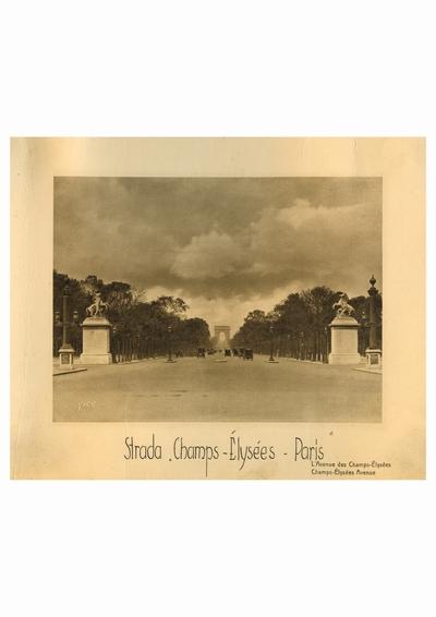 Reproducere foto, Champs Elysees, Paris; i-a apartinut lui Dumitru Dan