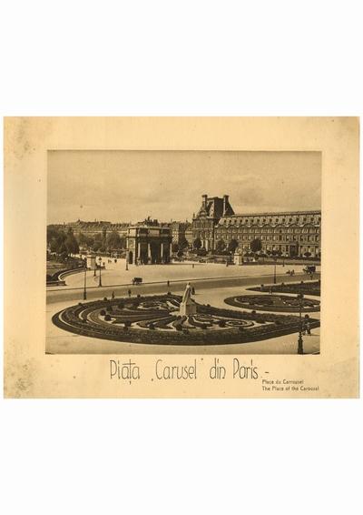 Reproducere foto, Place du Carrousel, Paris; i-a apartinut lui Dumitru Dan