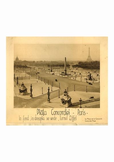 Reproducere foto, La Place de la Concorde, Paris; i-a apartinut lui Dumitru Dan