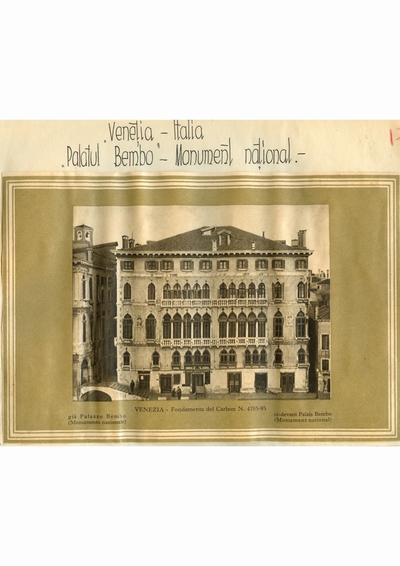 Reproducere foto, Palazzo Bembo, Venetia; i-a apartinut lui Dumitru Dan