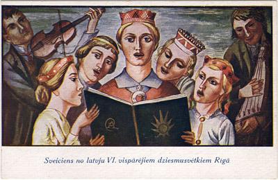 Sveiciens no Latvju VI Vispārējiem dziesmu svētkiem