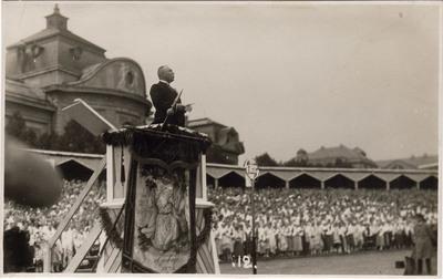 7. Vispārējie Dziesmu svētki Rīgā / Prezidents Alberts Kviesis atklāj svētkus