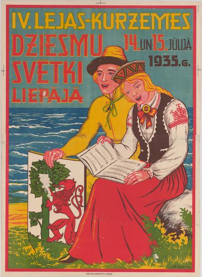IV. Lejas-Kurzemes Dziesmu svētki Liepājā 14. un 15.jūlijā 1935.g.